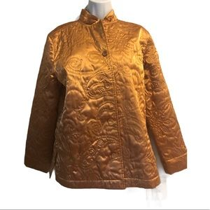 Gold Metallic Tapestry/Quilted Jacket